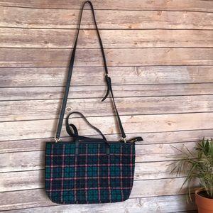 Talbots   plaid tartan holiday crossbody purse bag